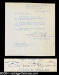 Autographs, Olivia de Havilland Typed Letter Signed