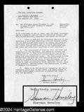 Autographs, Sherman Hemsley Signed Document