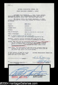 Autographs, Betty Hutton Signed Document
