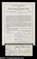 Autographs, Van Johnson Signed Document
