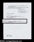 Autographs, Diane Keaton Signed Movie Contract