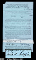 Autographs, Robert Loggia Signed Document