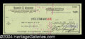 Autographs, Ray Manzarek Signed Bank Check