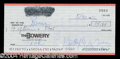 Autographs, Butterfly McQueen Signed Bank Check
