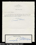 Autographs, Adolphe Menjou Typed Letter Signed