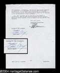 Autographs, Eddie Money Signed Document