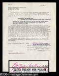 Autographs, Ozzie Nelson Signed Document