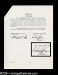 Autographs, Mickey Rooney Signed Document