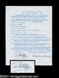 Autographs, Francoise Rosay Signed Document