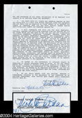 Autographs, Nicollette Sheridan Signed Document