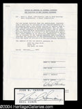 Autographs, Neil Simon Signed Document