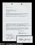Autographs, Robert Young Signed Document