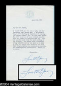 Autographs, Loretta Young Typed Letter Signed