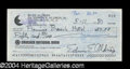 Autographs, Buzz Aldrin Rare Signed Bank Check