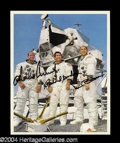 Autographs, Apollo 12 Crew Signed 8 x 10 Photograph
