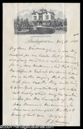 Autographs, P.T. Barnum Interesting Signed Letter