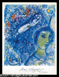 Autographs, Marc Chagall Signed Lithograph