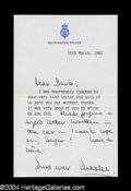Autographs, Prince Charles Scarce Signed Letter