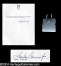 "Autographs, Charles ""Pete"" Conrad Space Flown Clip"
