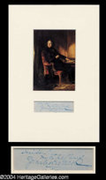 Autographs, Charles Dickens Matted Ink Signature