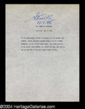 Autographs, Karl Donitz Terrific Signed WWII Typescript