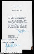 Autographs, John Foster Dulles Choice Typed Letter to Cordell Hull