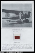 Autographs, Amelia Earhart Vega 5B Plane Swatch Display