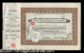 Autographs, Thomas Edison Signed Stock Certificate