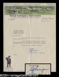 Autographs, Father E.J. Flanagan Typed Letter Signed