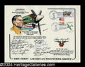 Autographs, Flying Tigers (WWII) Crew Signed Postal Sheet w/Boyington