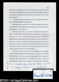 Autographs, Ken Follett Rare Signed Manuscript Page
