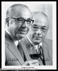 Autographs, Ernest and Julio Gallo Signed Photo
