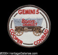 Autographs, Gemini V Space Flown Patch from Pete Conrad