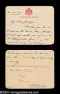 Autographs, George VI Handwritten Letter Signed