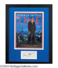 Autographs, Rudy Giuliani Signed Framed Display