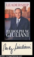 Autographs, Rudy Giuliani Signed Hardcover Book