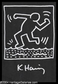 Autographs, Keith Haring Original Signed Artwork