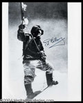 Autographs, Sir Edmund Hillary Signed 8 x 10 Photograph at Mt. Everest