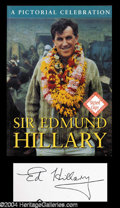 Autographs, Sir Edmund Hillary Beautiful Signed Book