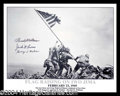Autographs, Iwo Jima Flag Raising Photo Signed By Medal of Honor Winners