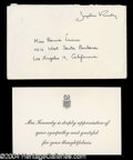 Autographs, Jacqueline Kennedy Original Mourning Card