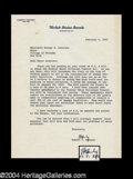 Autographs, Robert F. Kennedy Typed Letter Signed As Senator