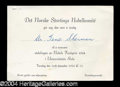 Autographs, (Martin Luther King, Jr.) Nobel Peace Prize Ticket c. 1964