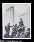 Autographs, Charles W. Lindberg Battle of Iwo Jima Signed Photo