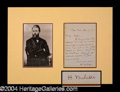 Autographs, Herman Melville Exceedingly Rare Handwritten Letter Signed