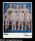 Autographs, Mercury 7 Schirra, Carpenter, Cooper Signed Photo (B)