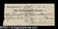 Autographs, Billy Mitchell Scarce Signed Bank Check (WWI)