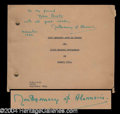 Autographs, Montgomery of Alamein Signed Speech Booklet