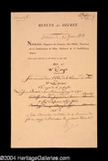 Autographs, Napoleon Rare Signed Document c. 1873