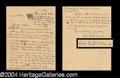 Autographs, George S. Patton Great Handwritten Letter to His Sister!